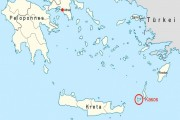 Kasos location at Aegean Sea